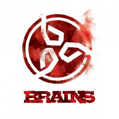 Brains - piros hűtőmágnes