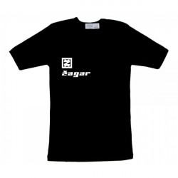 Zagar black Logo Férfipóló