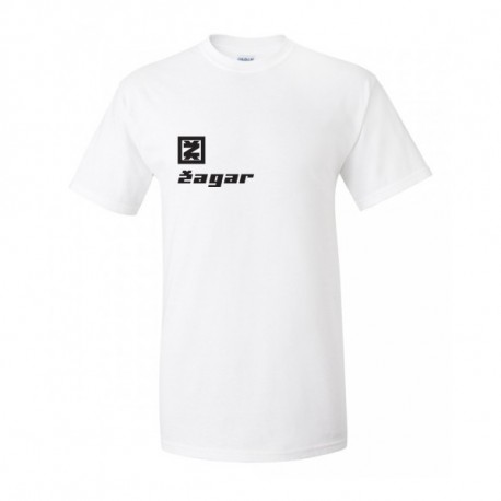 Zagar White Logo Férfipóló