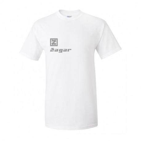 Zagar White logo silver Férfipóló