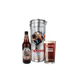 Trooper Tin (fémdoboz + sör + pohár)