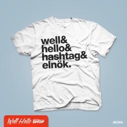 Wellhello Hastag férfi póló