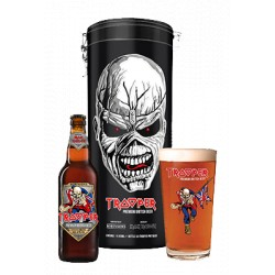 Trooper Tin Black (fémdoboz + sör + pohár)