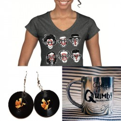 Quimby - Bögre+fülbevaló+női póló csomag