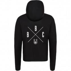 Bagossy Brothers Company - Farkas kapucnis cipzáros pulóver